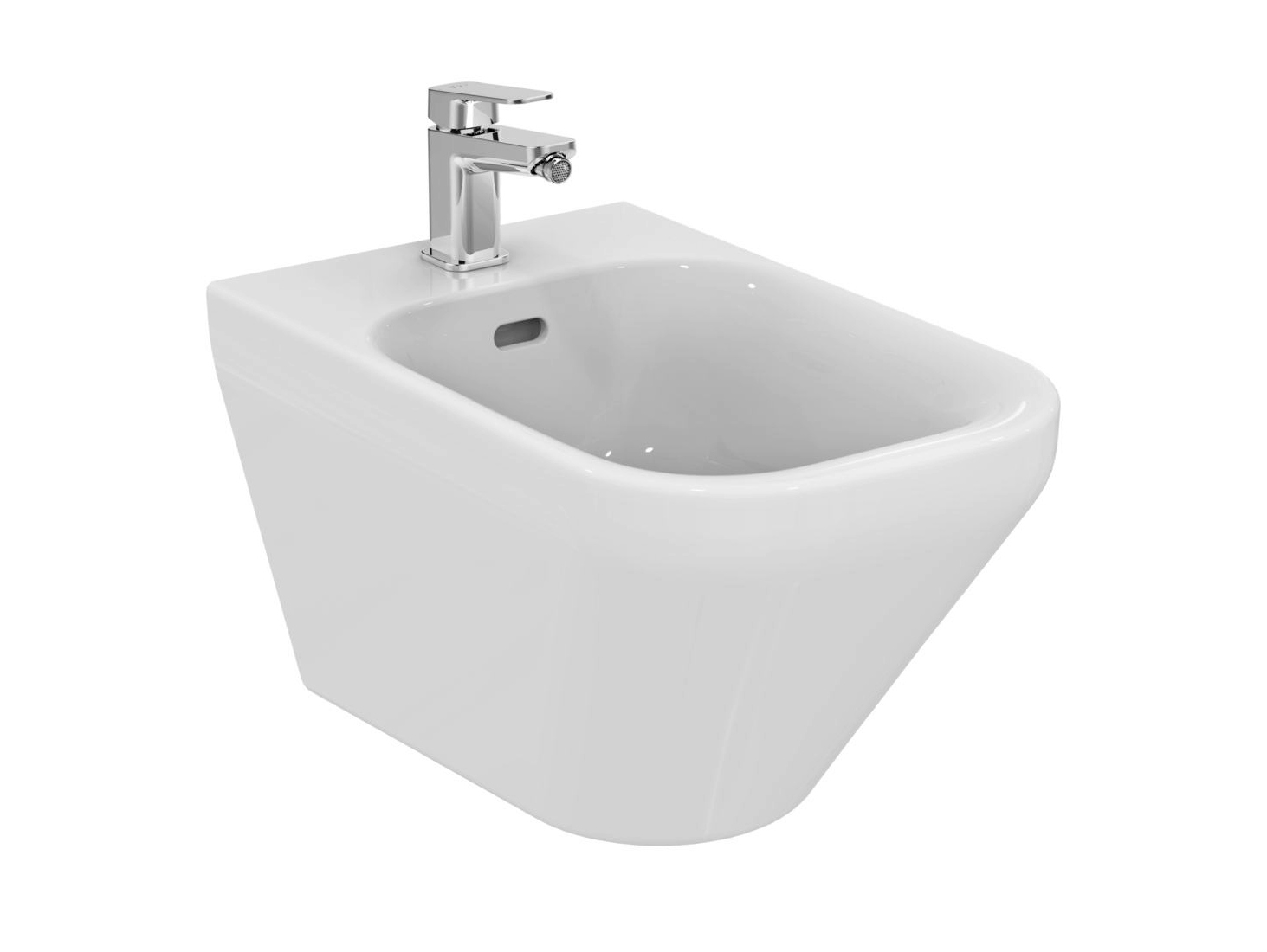 Bidet sospeso in ceramica tonic ii k5236 by ideal for Architec bidet sospeso