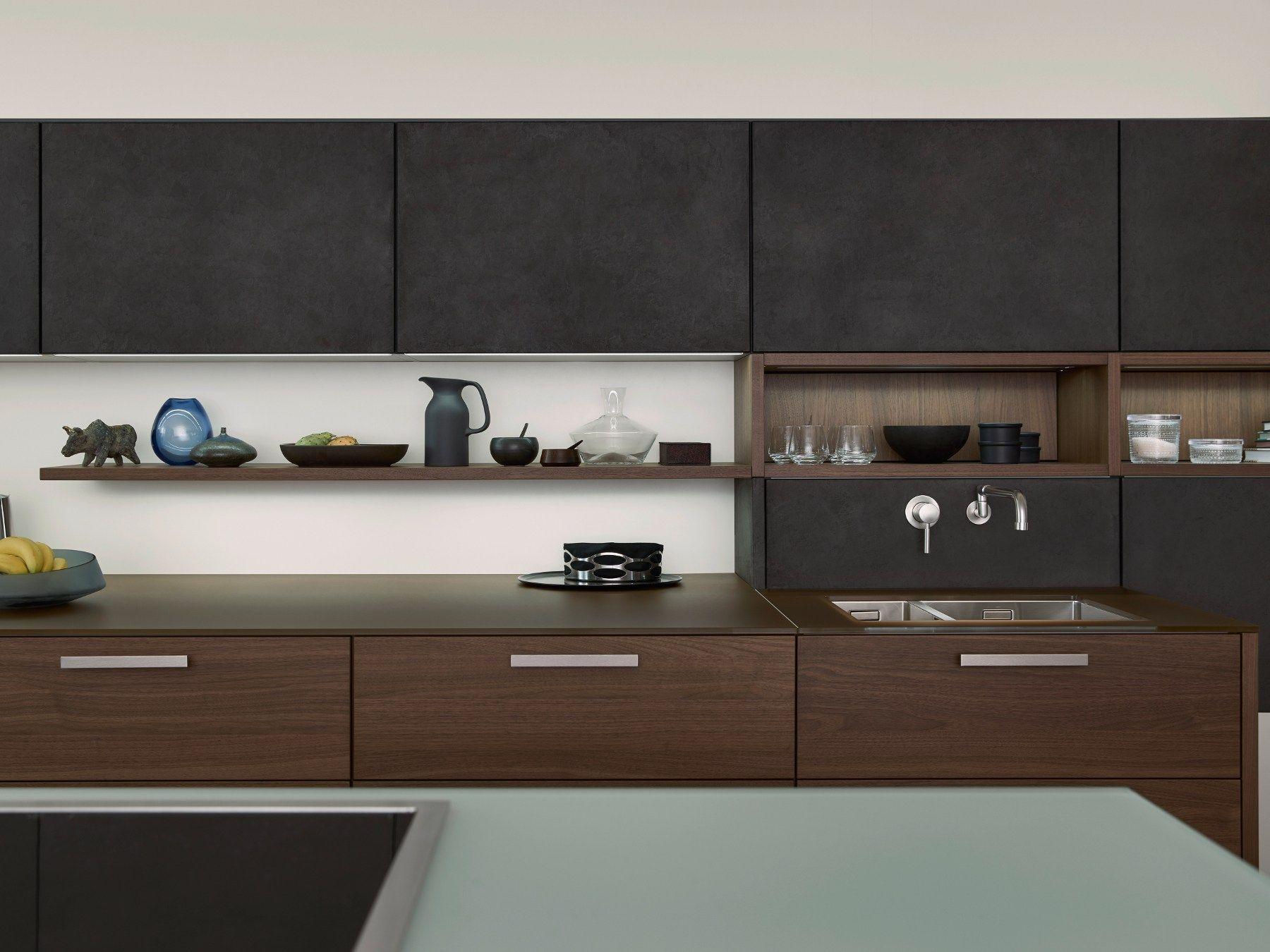 Küche mit kücheninsel topos concrete by leicht küchen