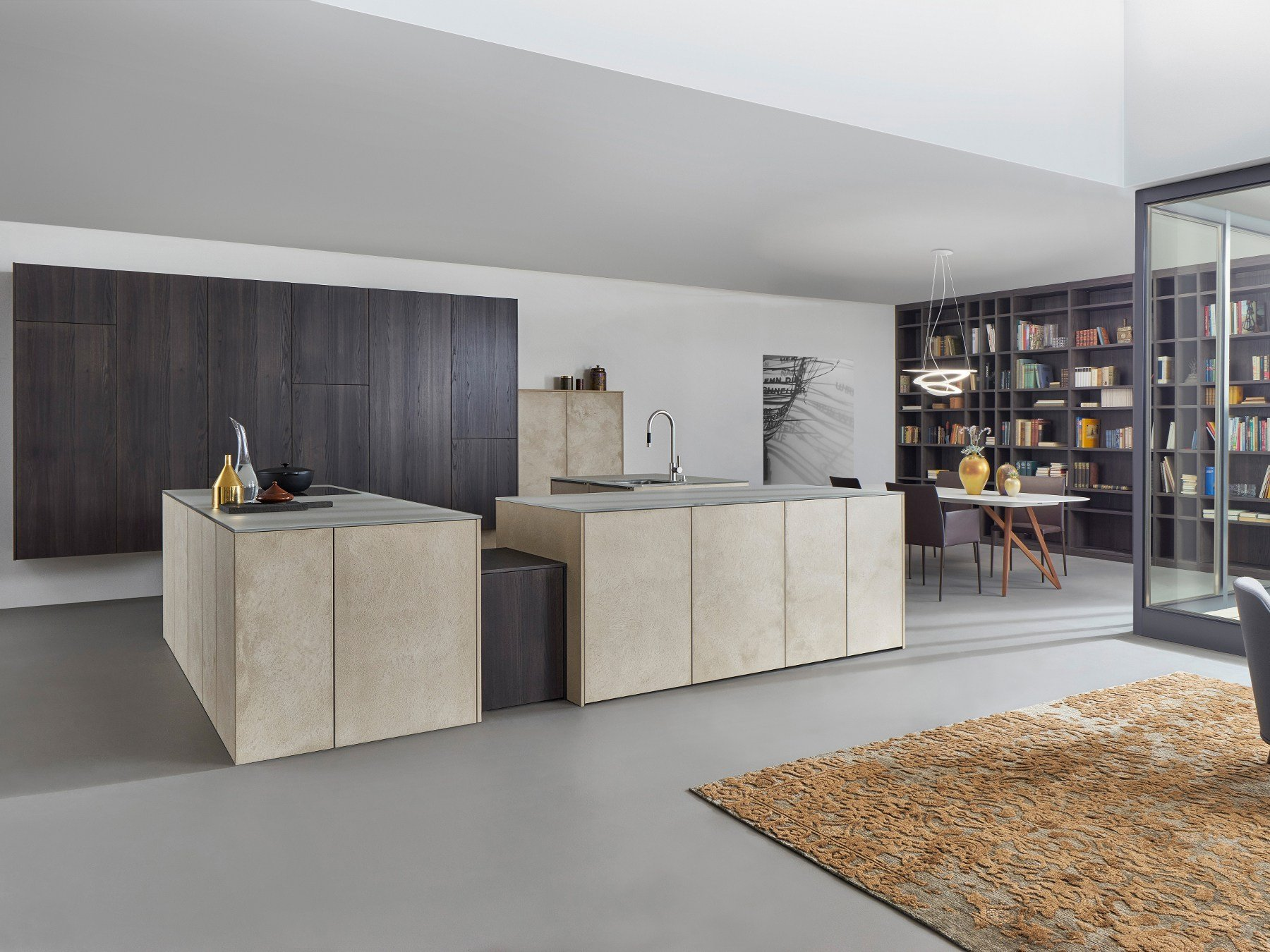 kitchen with island topos stone by leicht k chen. Black Bedroom Furniture Sets. Home Design Ideas