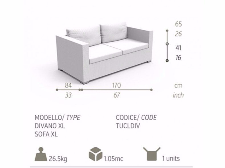 touch garden sofa by talenti