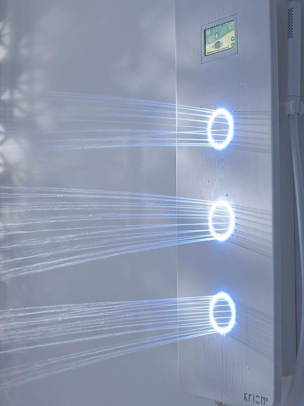 Touch colonne de douche mural by systempool - Colonne de douche avec radio ...