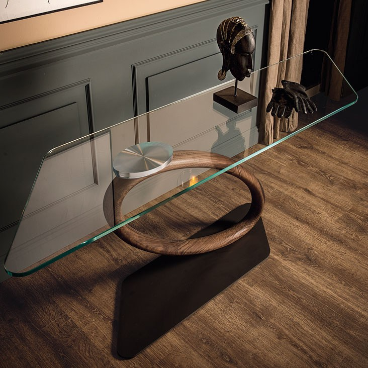 Consolle Design Legno Canaletto Tour Cattelan : Rectangular walnut console table tour by cattelan italia
