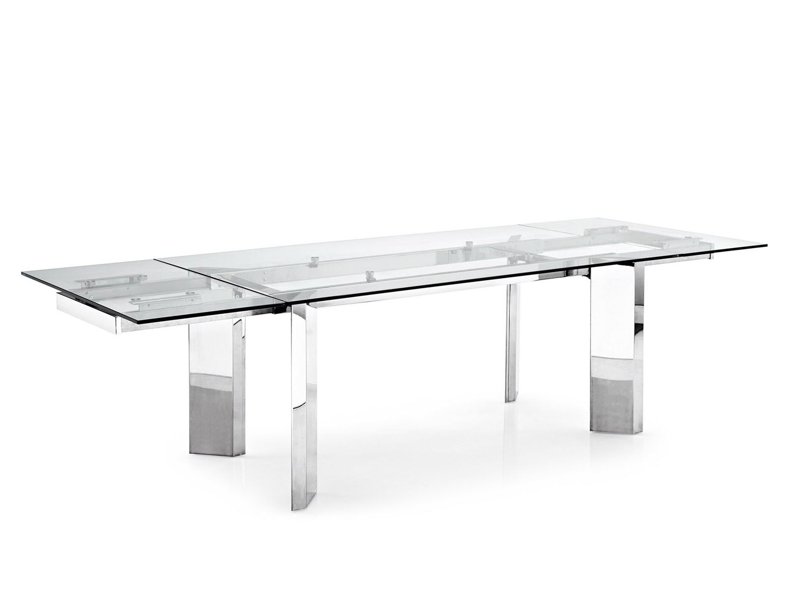 Tower table en verre by calligaris for Table extensible verre trempe
