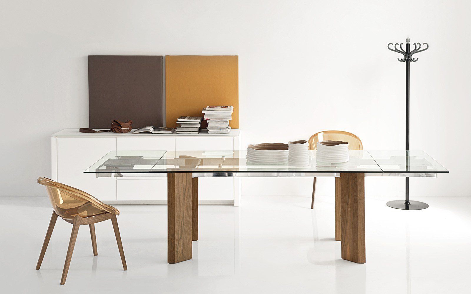 Tower wood by calligaris for Tavolo allungabile calligaris
