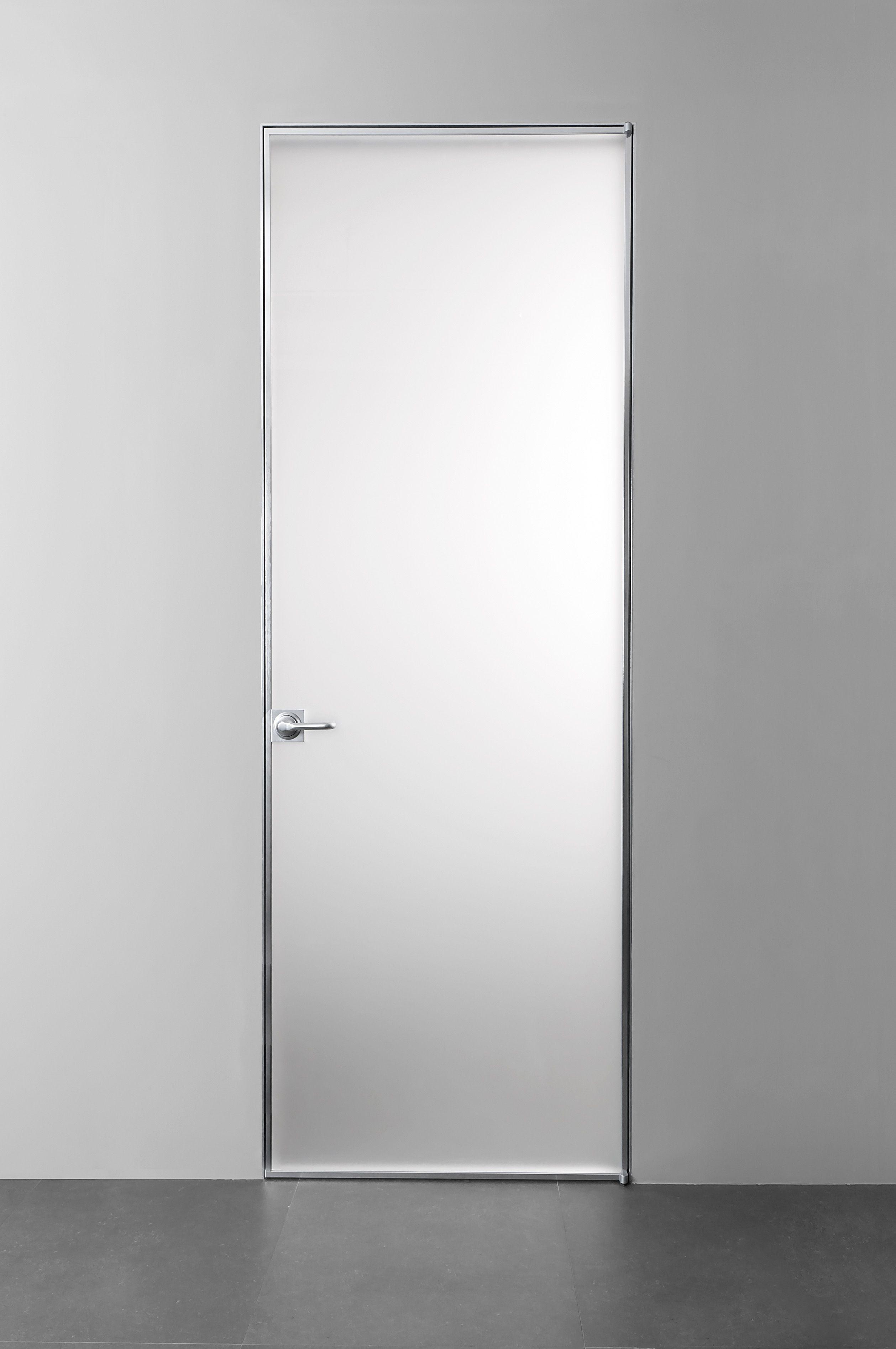 Trait porta a filo muro by albed by delmonte design - Porta filo muro prezzi ...