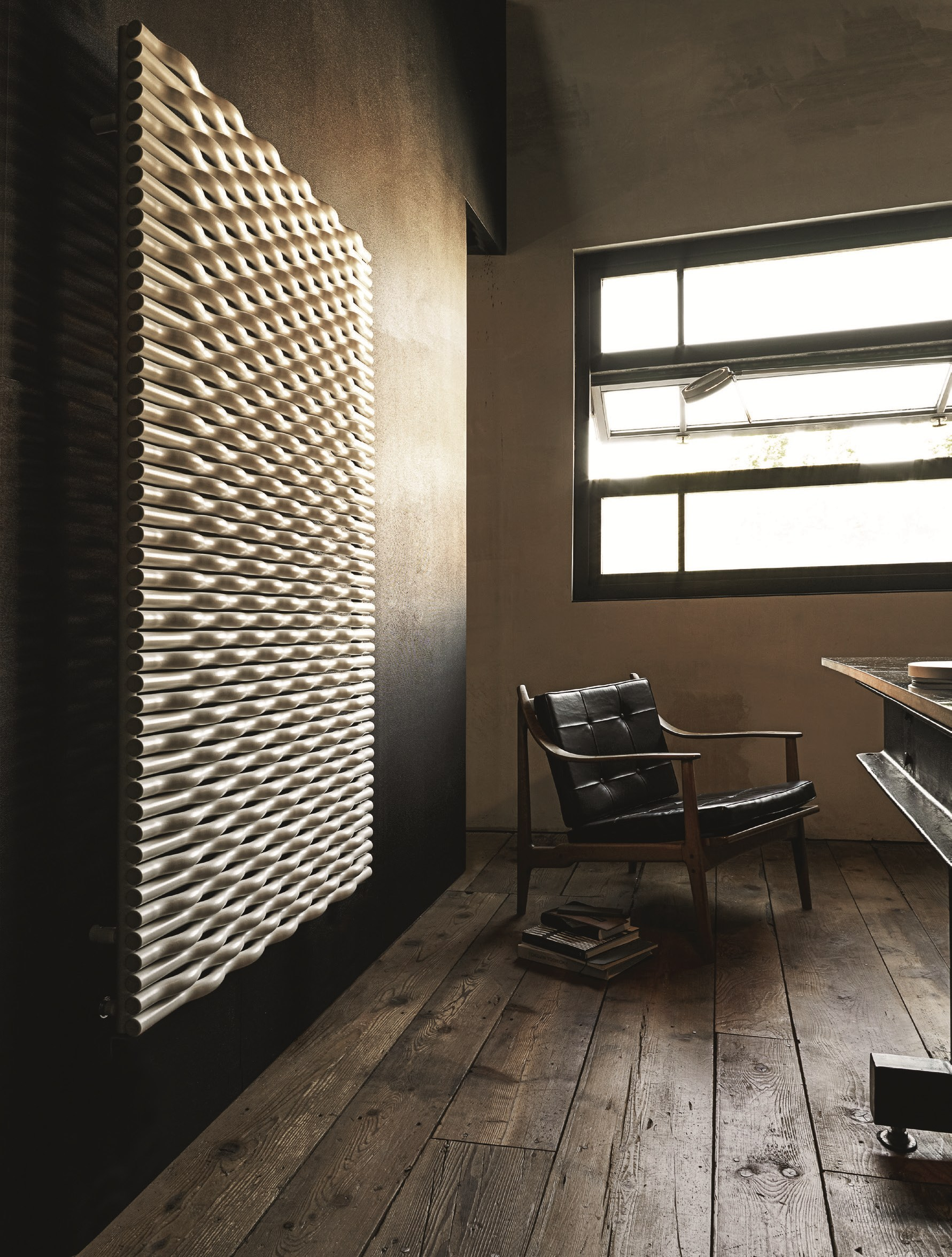 Radiateur d coratif mural trame by tubes radiatori design for Element decoratif mural