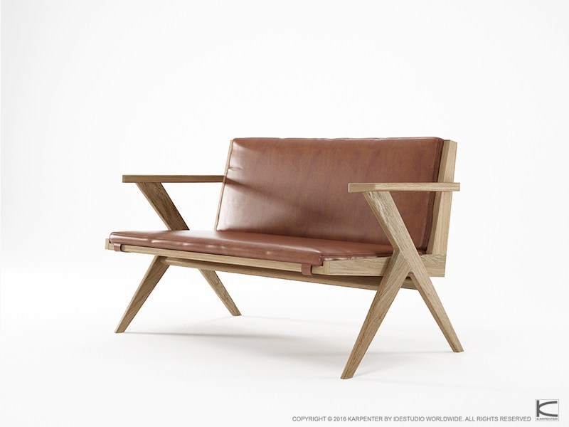 2 Seater Leather Sofa TRIBUTE TB17 O By KARPENTER Design