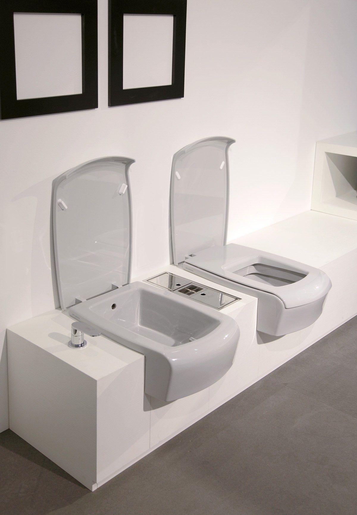 Una lunette de toilette by ceramica flaminia design romano - Toilette da bagno ...