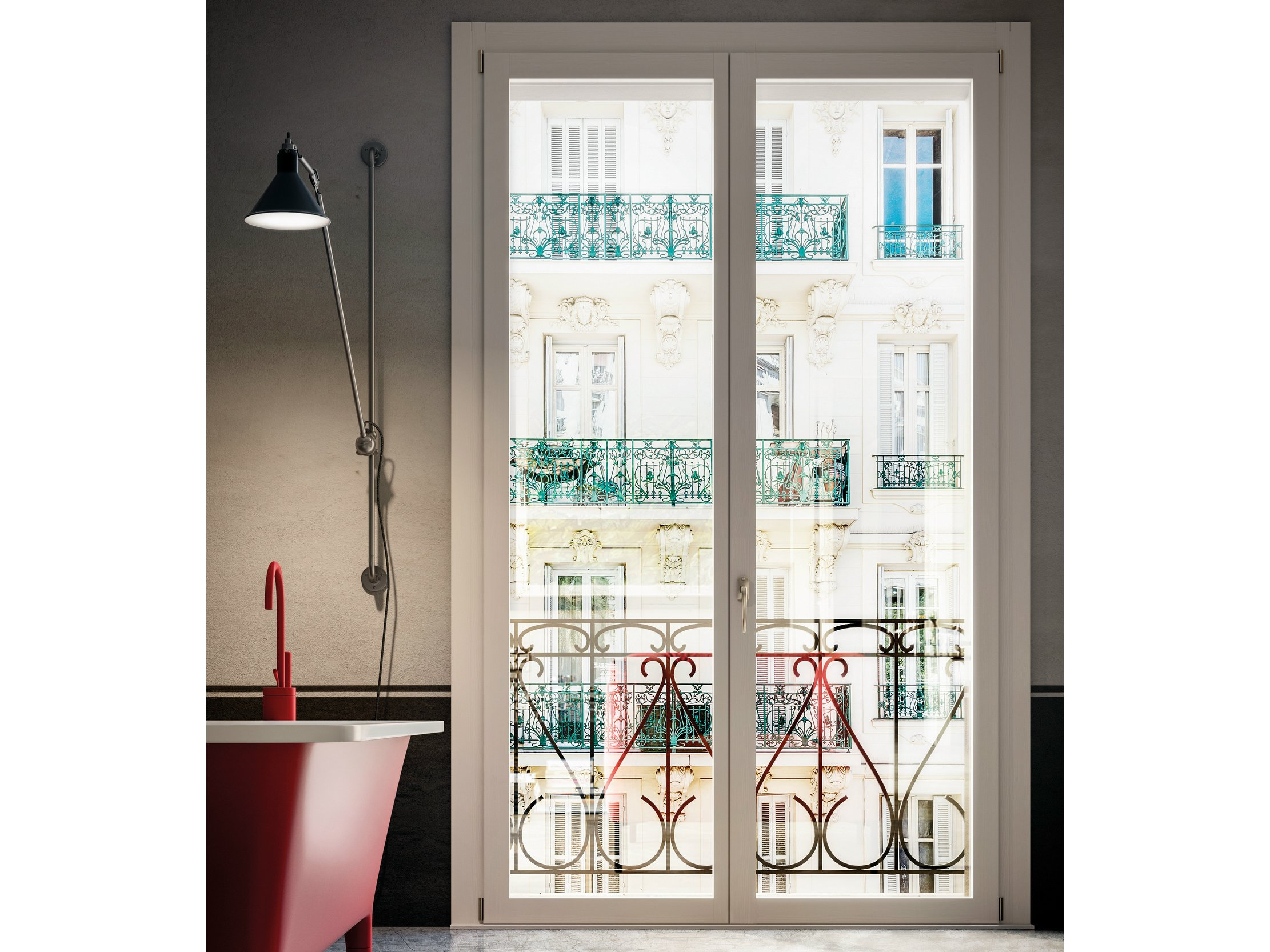 Porta finestra in legno collezione unica by bg legno - Porta finestra legno ...