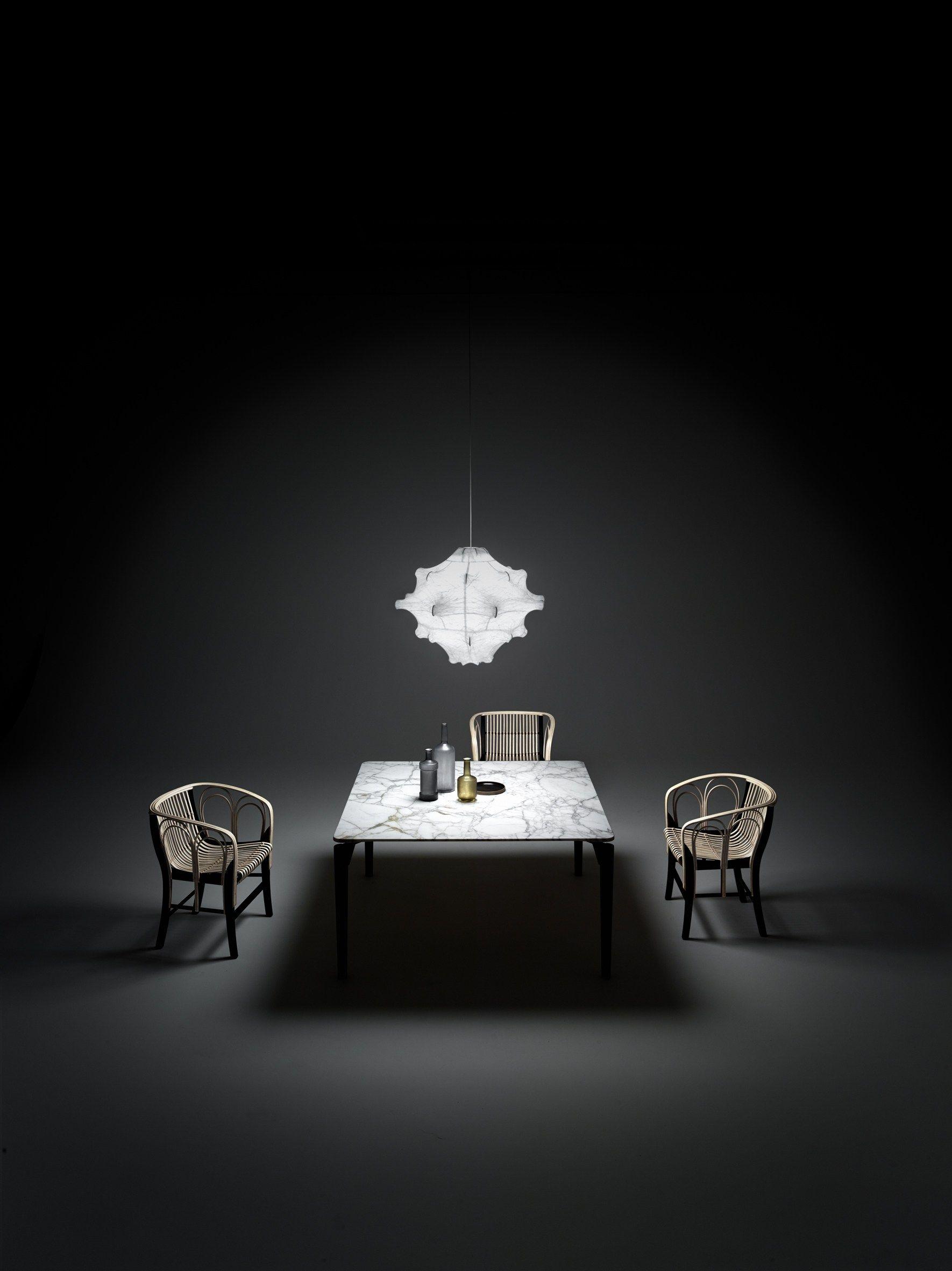 Sedia in midollino con braccioli uragano by de padova design vico magistretti - Tavolo de padova quadrato ...
