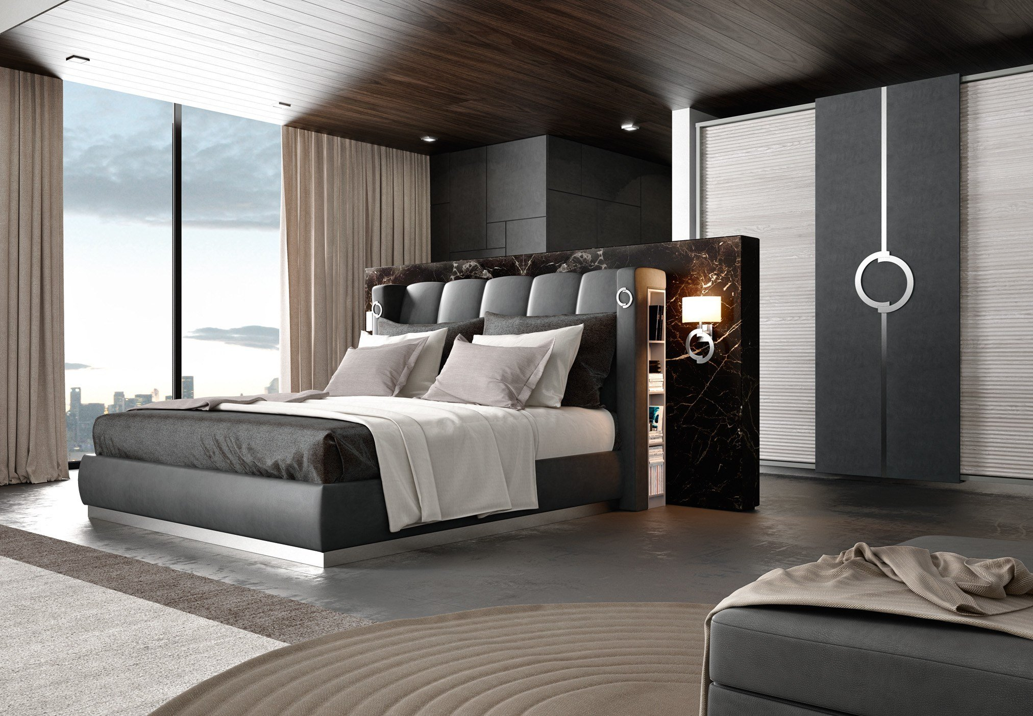 Urban mood camera da letto collezione concept by caroti for Camera letto design