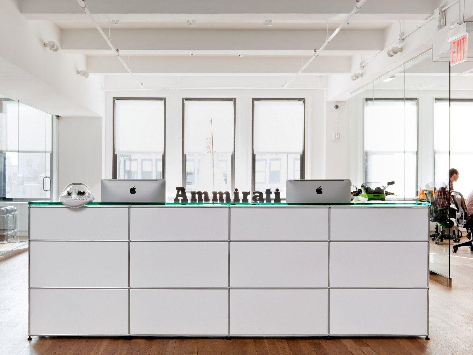 usm haller system for reception desks reception desk by. Black Bedroom Furniture Sets. Home Design Ideas