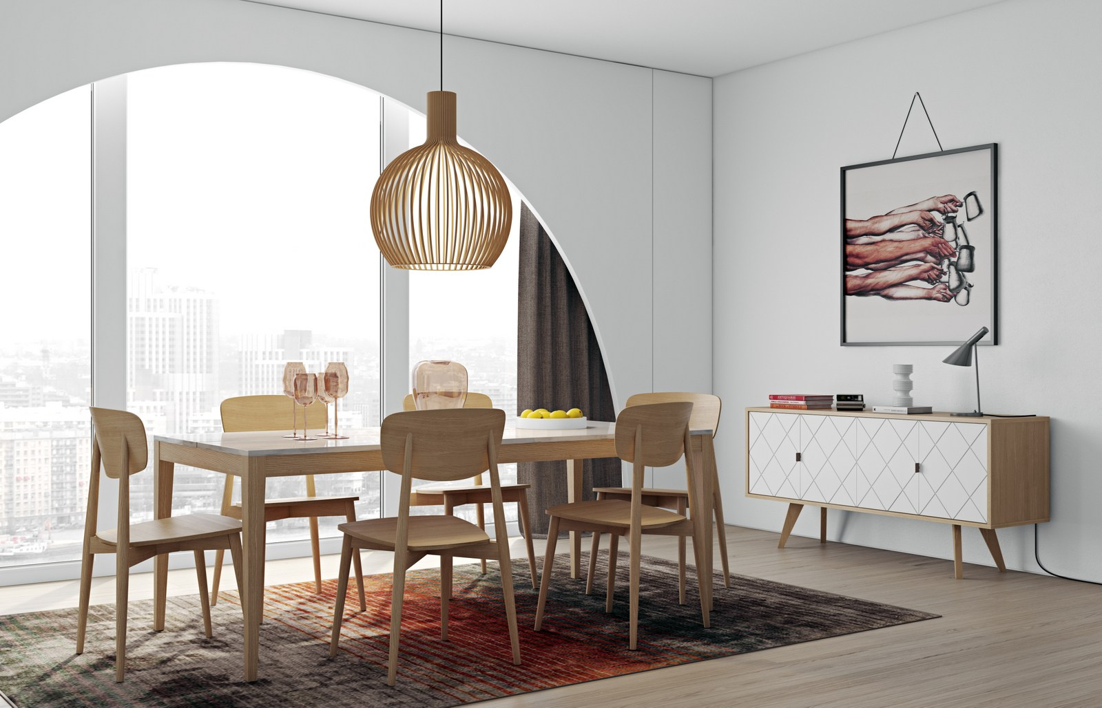 carrara marble dining table utile by temahome -
