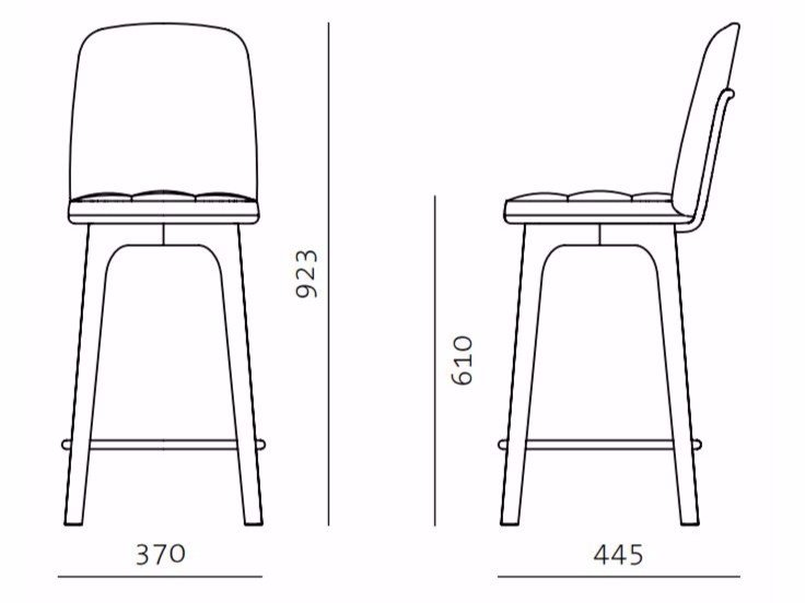 UTILITY HIGH CHAIR SH610 By STELLAR WORKS design NeriHu Design – High Chair Dimensions