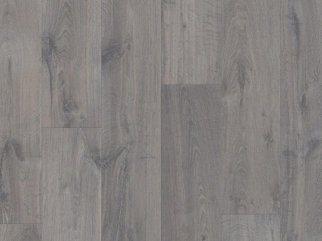Laminate flooring urban grey oak modern plank collection for Gray pergo flooring