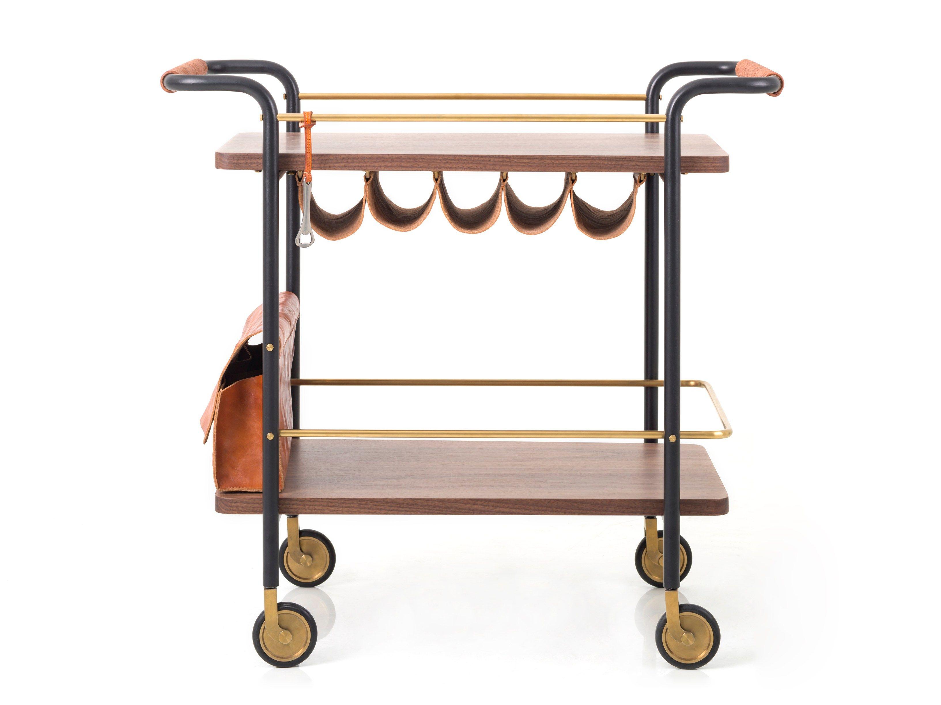 Bar cart valet bar cart valet collection by stellar works design david rockwell - Carrito bebidas ...