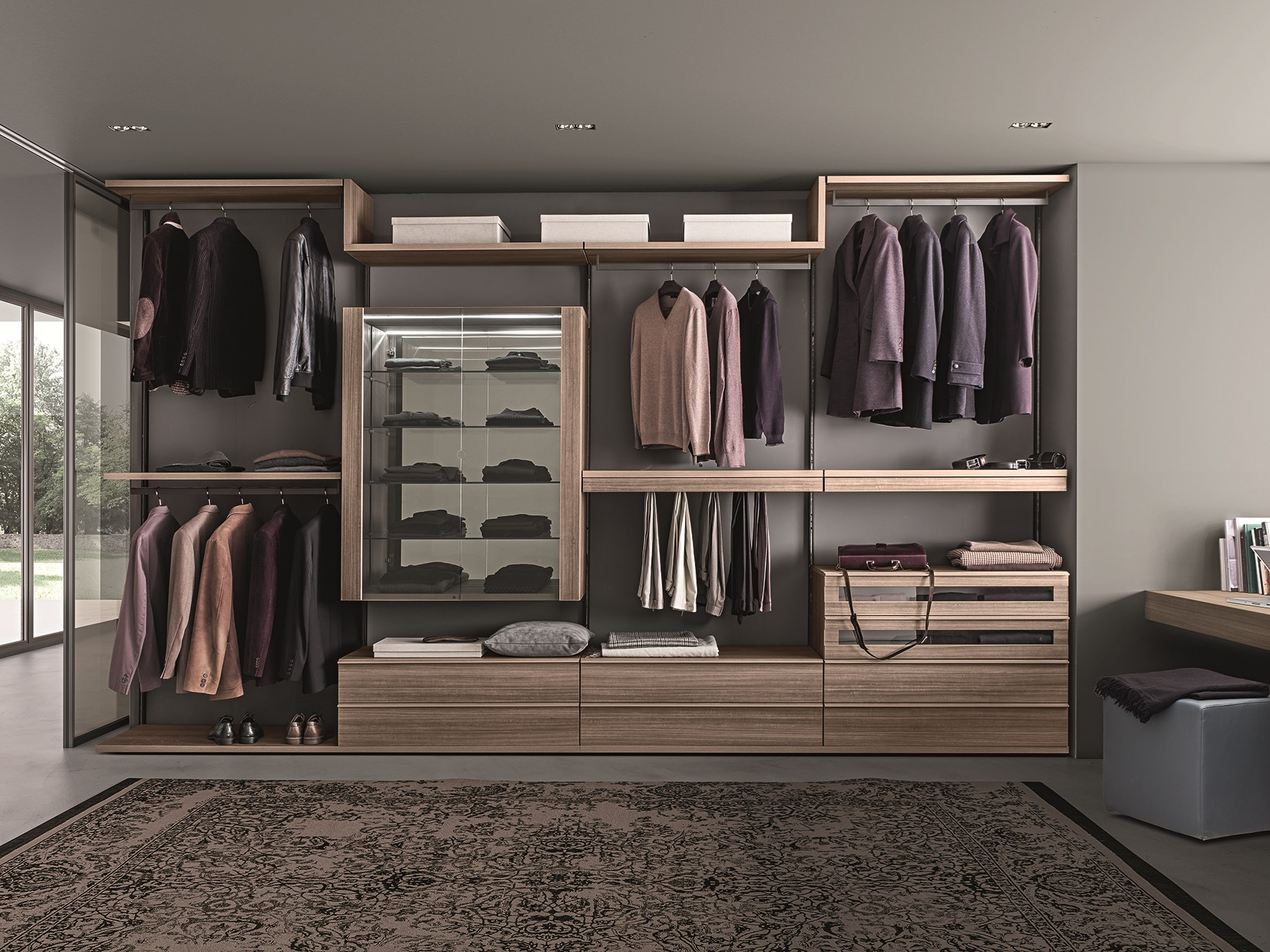 Cabina armadio componibile varius free by presotto for Mobili design