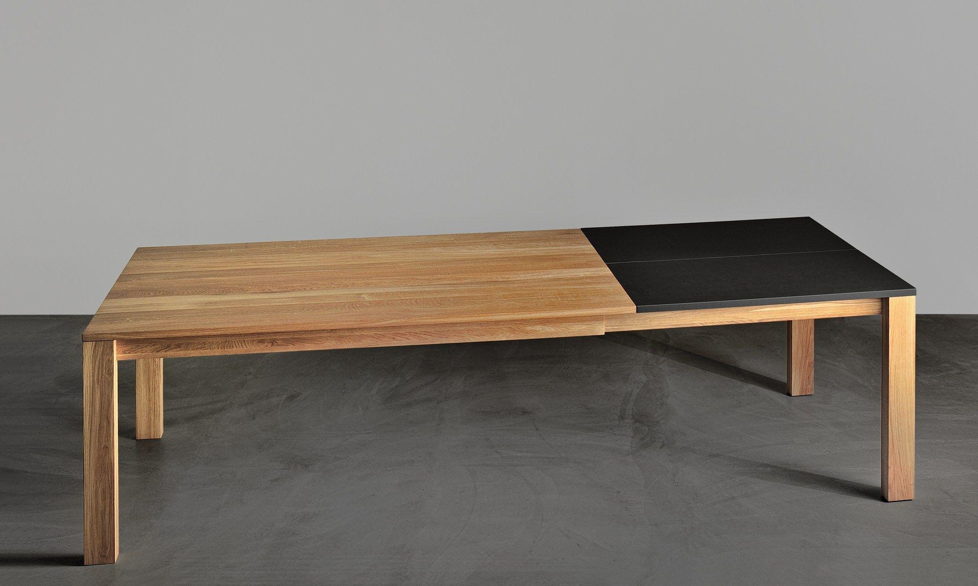 Ausziehbarer rechteckiger tisch aus massivem holz varius by ...
