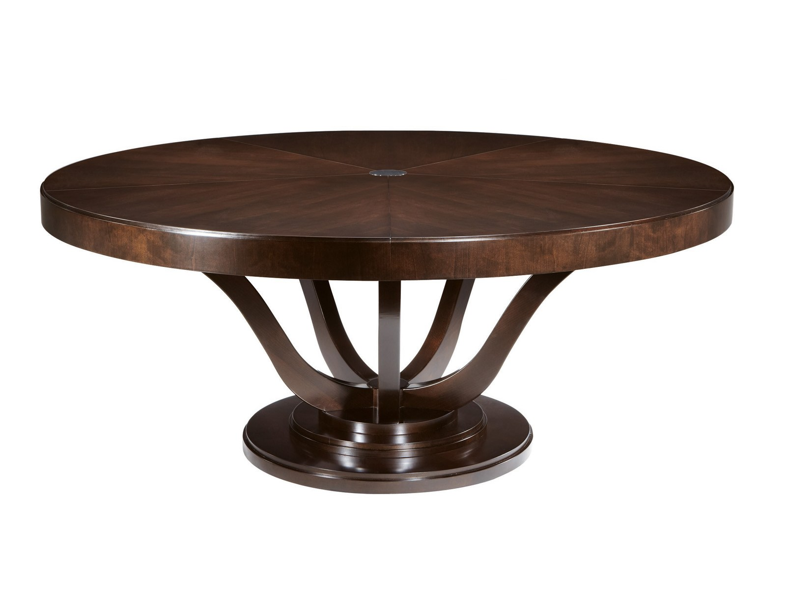 Victoria table by selva design tiziano bistaffa for Table a manger ronde en bois