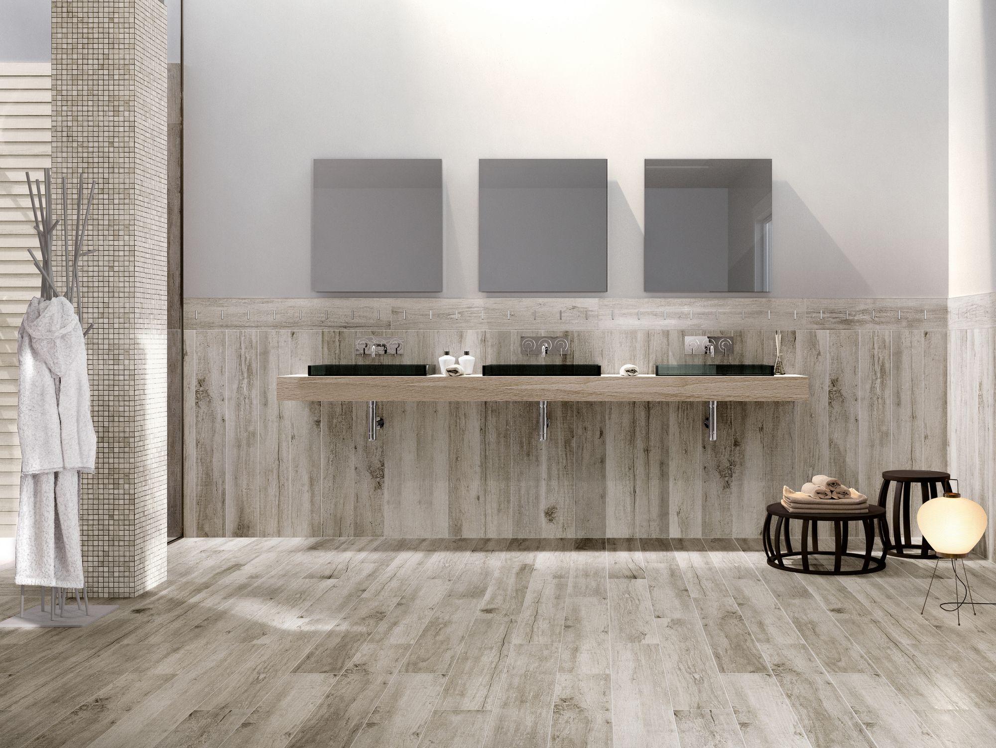 Glazed stoneware flooring with wood effect VINTAGE  Flooring