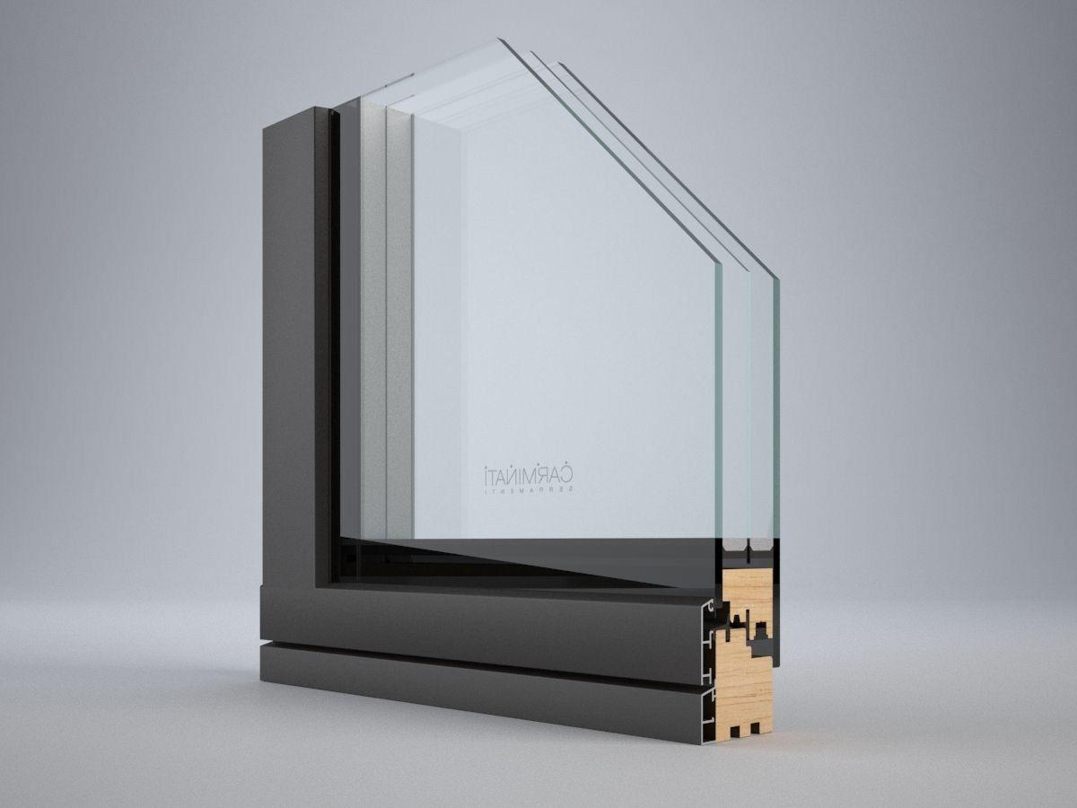 Vitrum double porta finestra alzante scorrevole by for Finestra vetro
