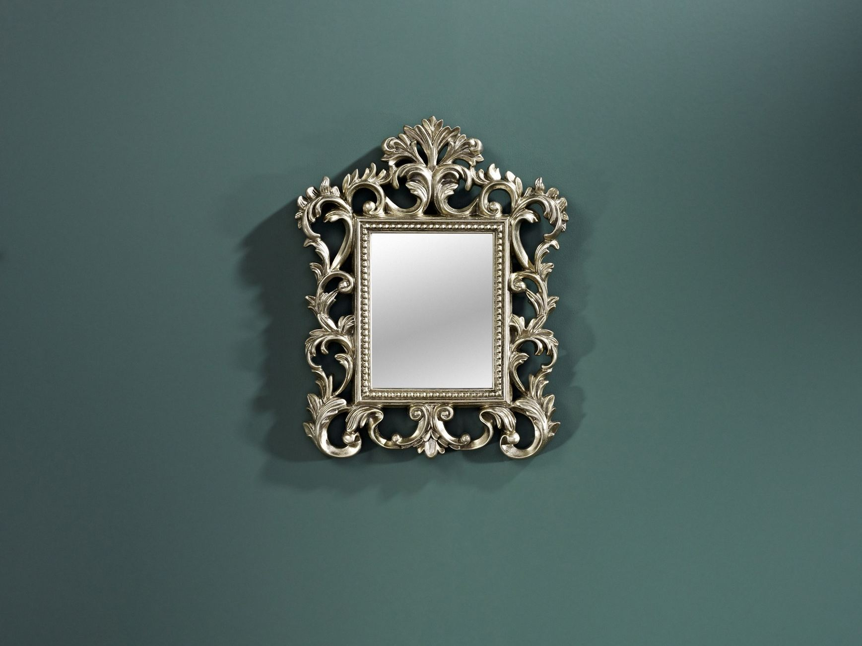 Baroque rectangular framed mirror viva by deknudt mirrors for Rectangular baroque mirror