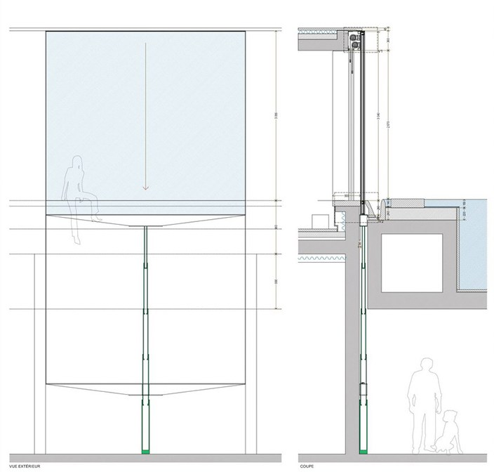 aluminium vertical pocket sliding window vertical pocket window system by otiima. Black Bedroom Furniture Sets. Home Design Ideas
