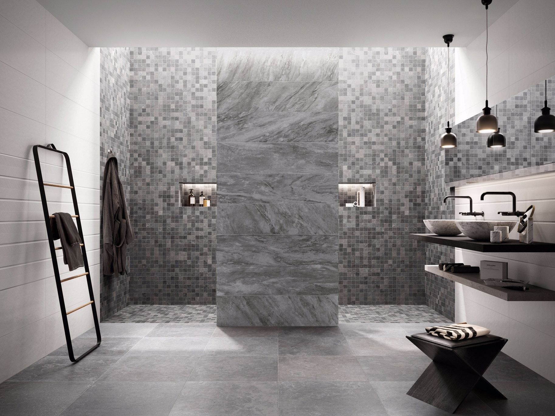 wall porcelain wall tiles w all by flaviker contemporary. Black Bedroom Furniture Sets. Home Design Ideas