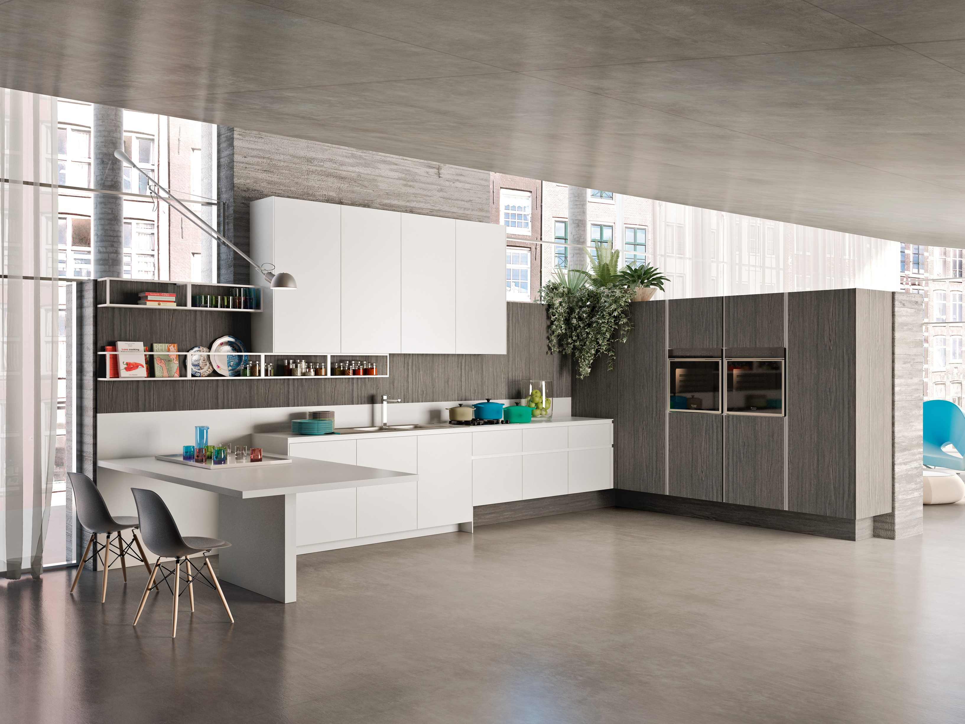 linear wooden fitted kitchen way linear kitchen snaidero antis fusion fitted kitchens euromobil