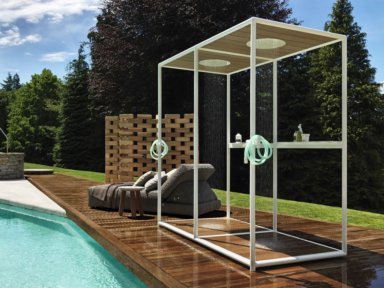 Douche En Bois De Jardin : Wooden Outdoor Shower