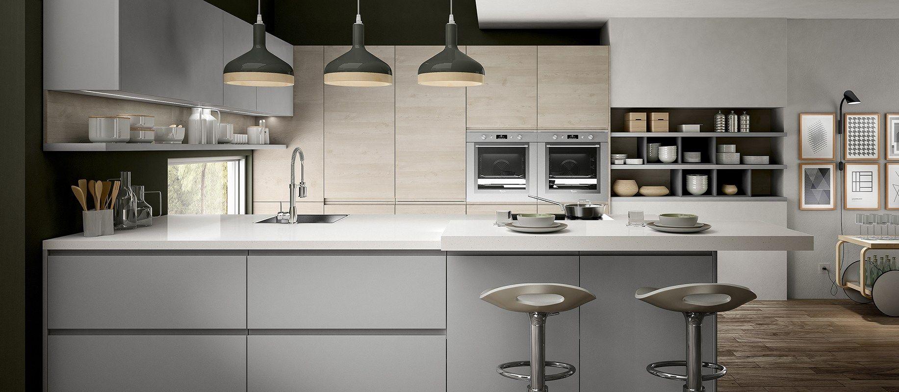 Cucina componibile con maniglie integrate wega by arredo 3 for Cucina wega arredo 3