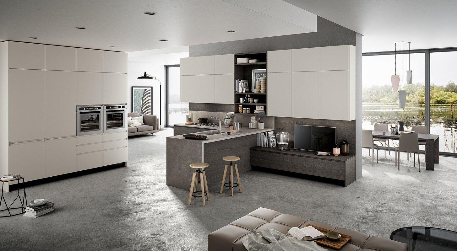 Cucina componibile in stile americano con isola con maniglie wega by arredo 3 - Cucine wega prezzi ...