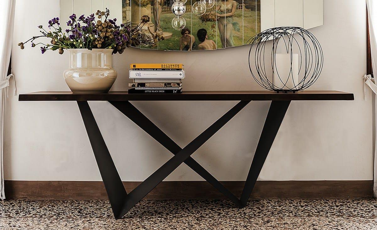 Consolle Design Piano Legno Massello Westin Cattelan : Consolle rettangolare in legno westin by cattelan italia