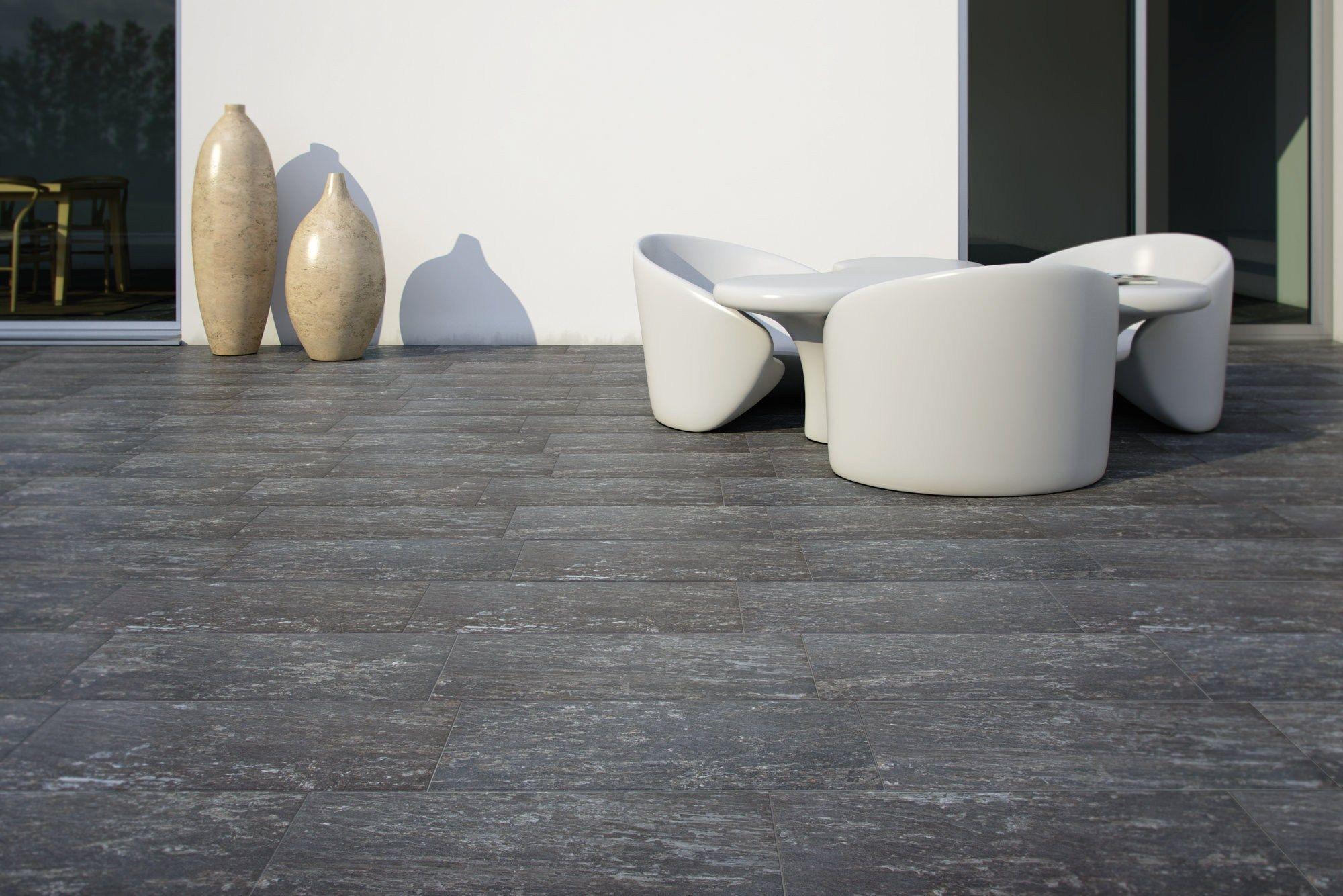Pavimento per esterni in gres porcellanato effetto pietra wild rock by recer - Gres porcellanato effetto pietra per esterni ...