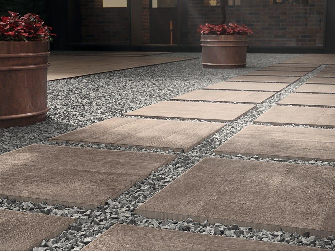 Pavimento per esterni effetto legno wildwood 20mm by gres for Carrelage portugal