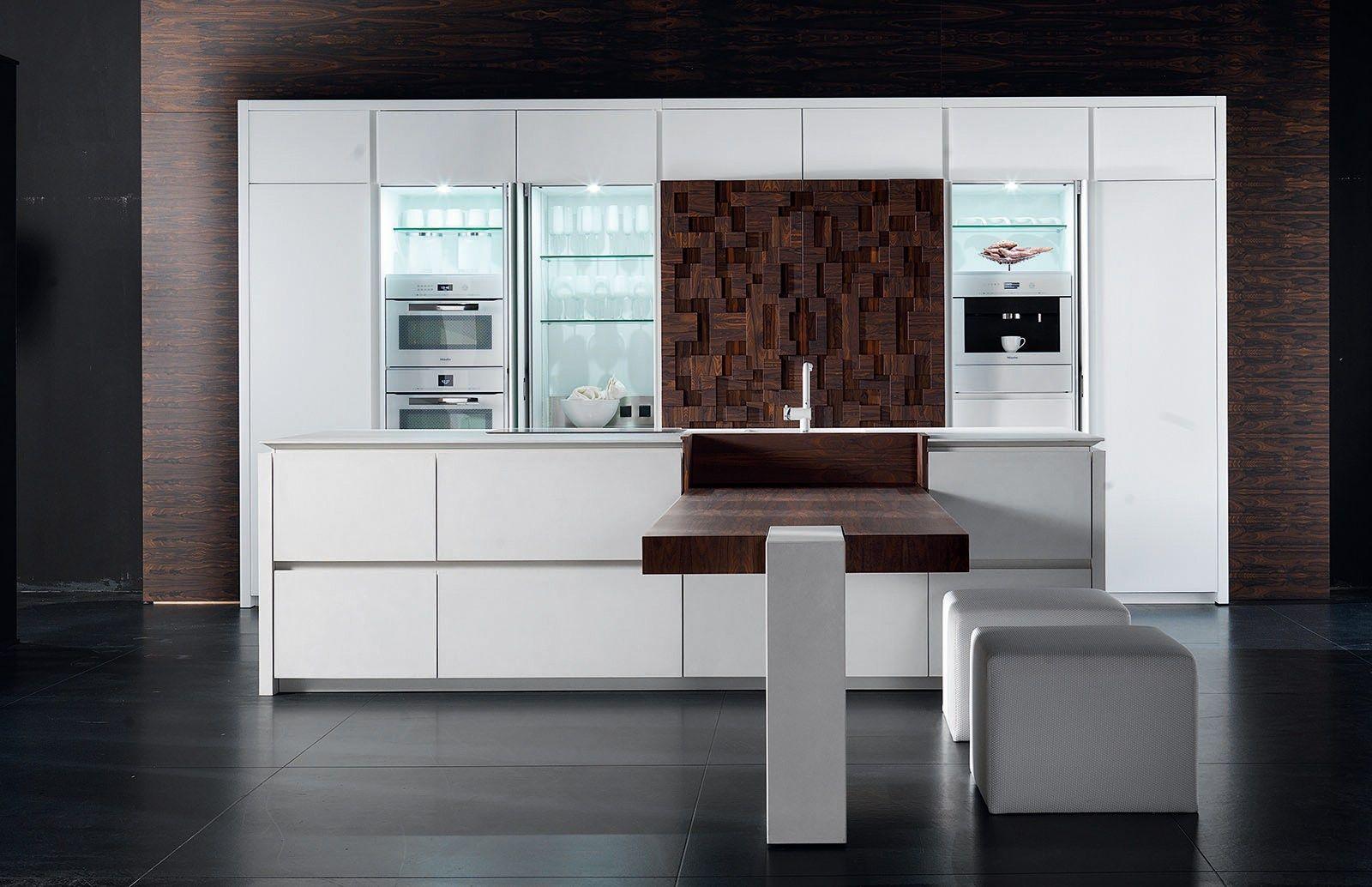 Lackierte Küche mit Kücheninsel WIND ETA BLANC by TONCELLI CUCINE