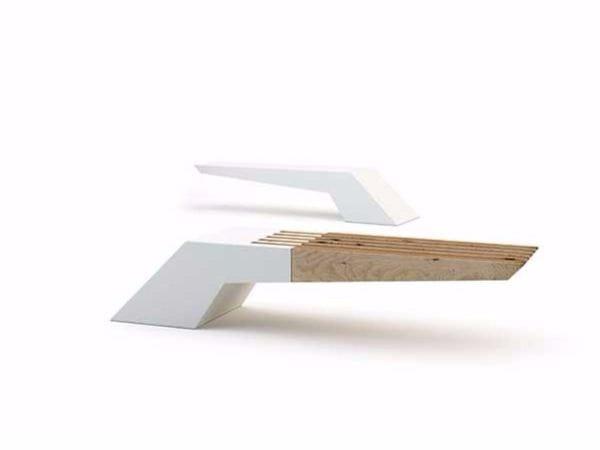 Panchina senza schienale wing wood by bellitalia design for Panchine arredo urbano prezzi