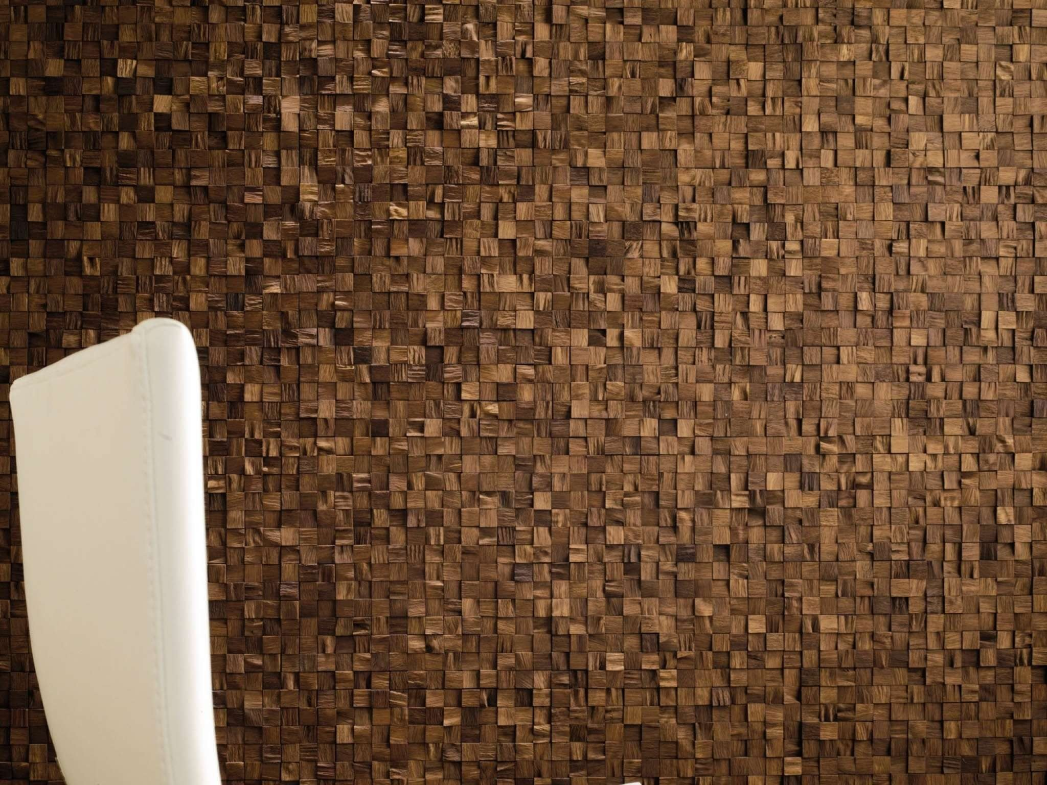 Wooden 3d wall mosaic wood mosaics by l 39 antic colonial for Mosaic wallpaper for walls