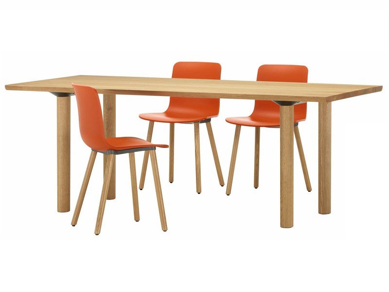 Mesa de comedor rectangular de madera maciza WOOD TABLE by Vitra ...