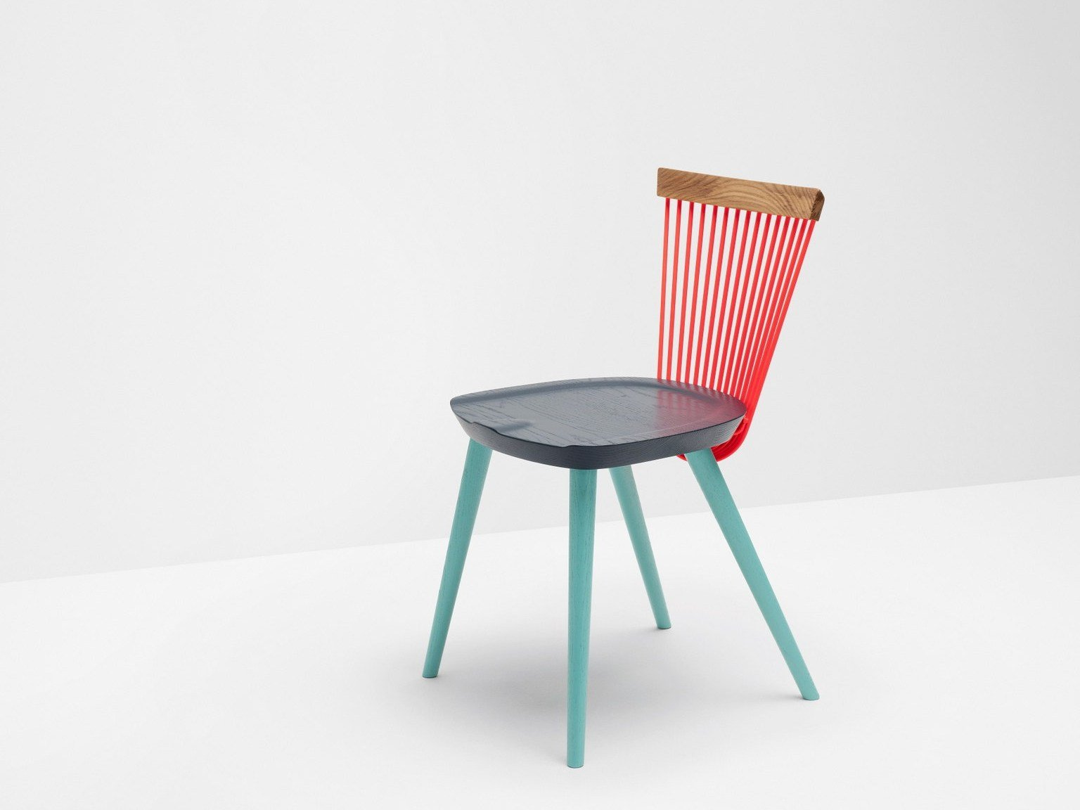 Lacquered oak chair ww colour series by h furniture design for Lacquered furniture