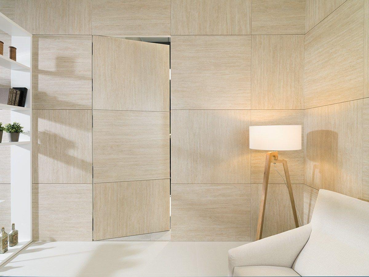 Ultra thin wall tiles with travertine effect xlight - Porcelanosa castellon ...