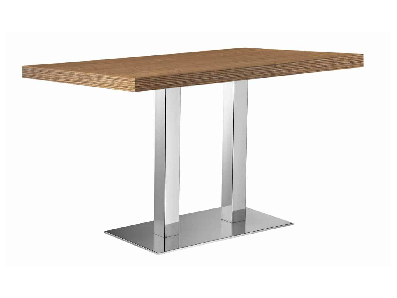 Rectangular steel and wood table xt q by metalmobil