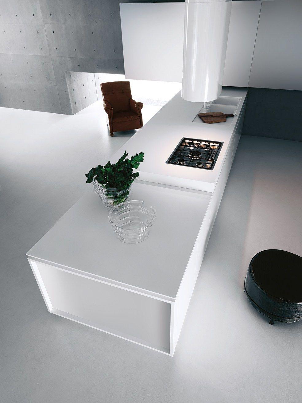 Cuisine laqu e avec p ninsule yara composition 1 by for Cuisine 3d solidworks