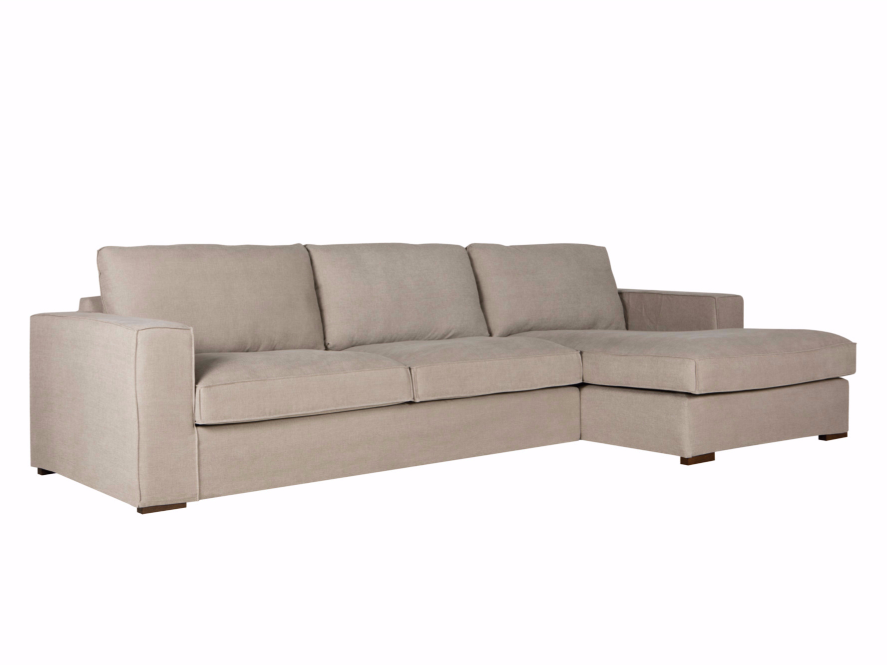 Abbe sofa with chaise longue by sits for Chaise longue sofas