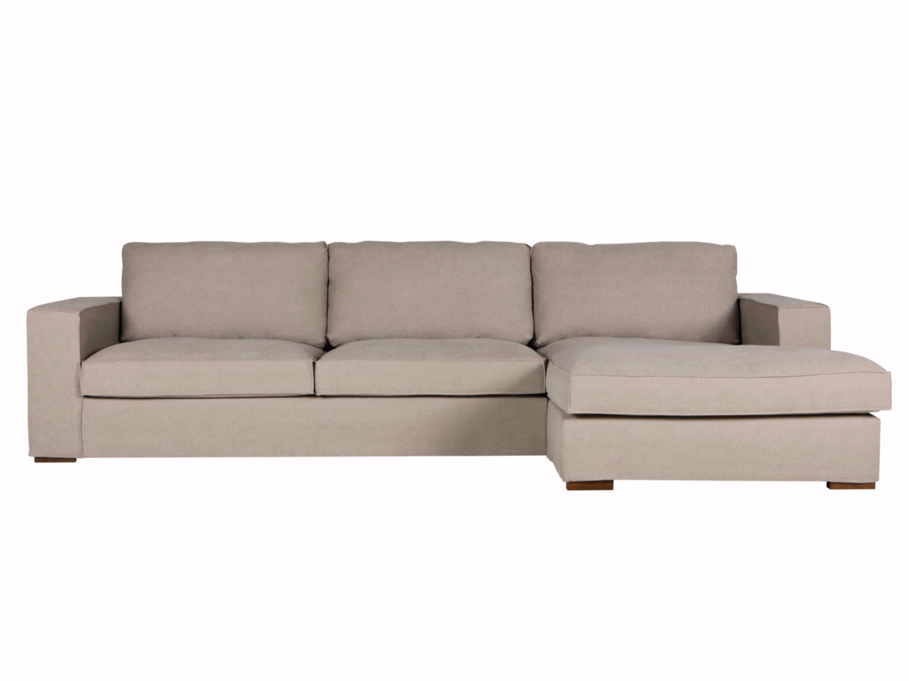 Abbe sofa with chaise longue by sits for Chaise longue sofa cama