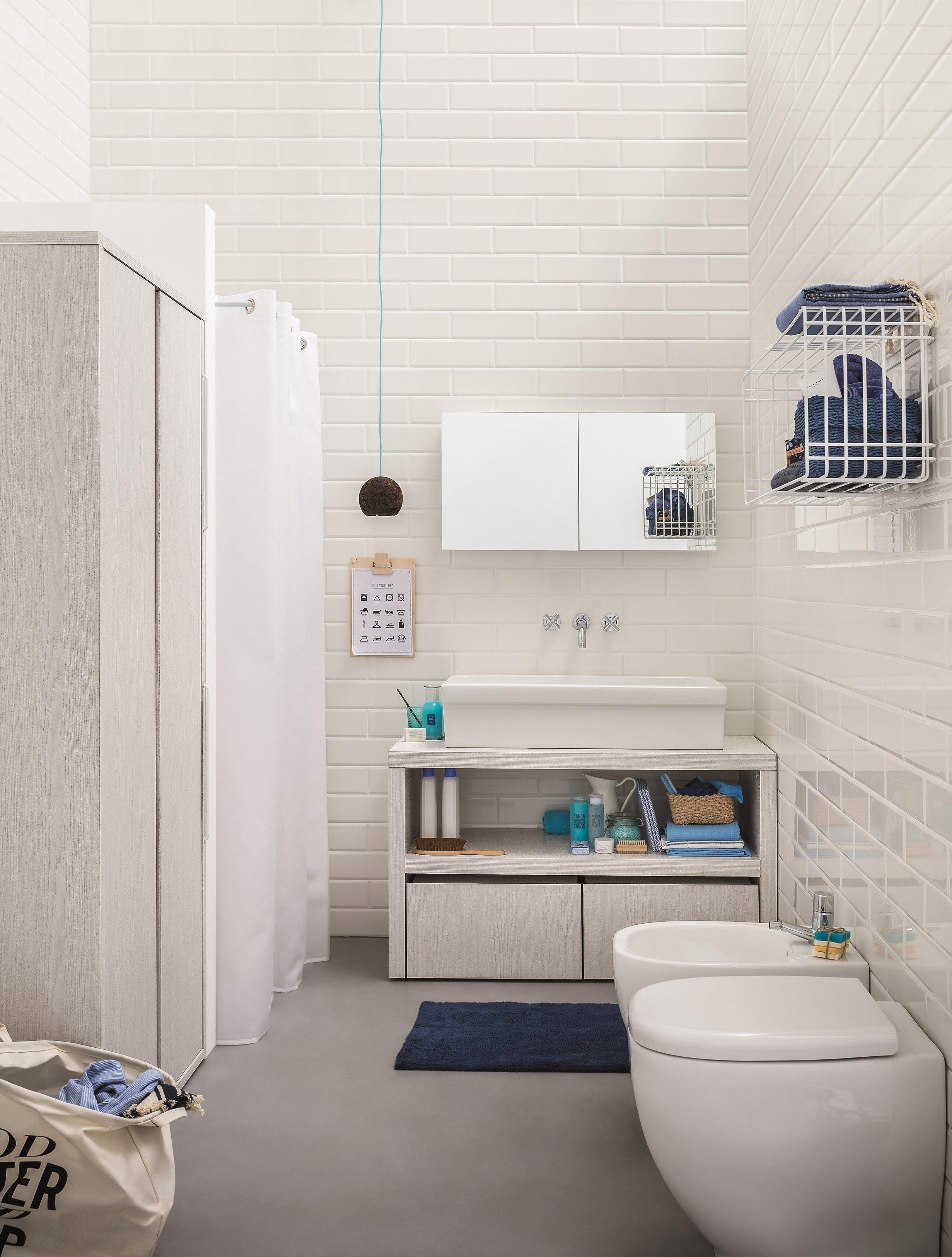 Acqua e sapone espejo para ba o by birex dise o monica graffeo for Bano con lavanderia