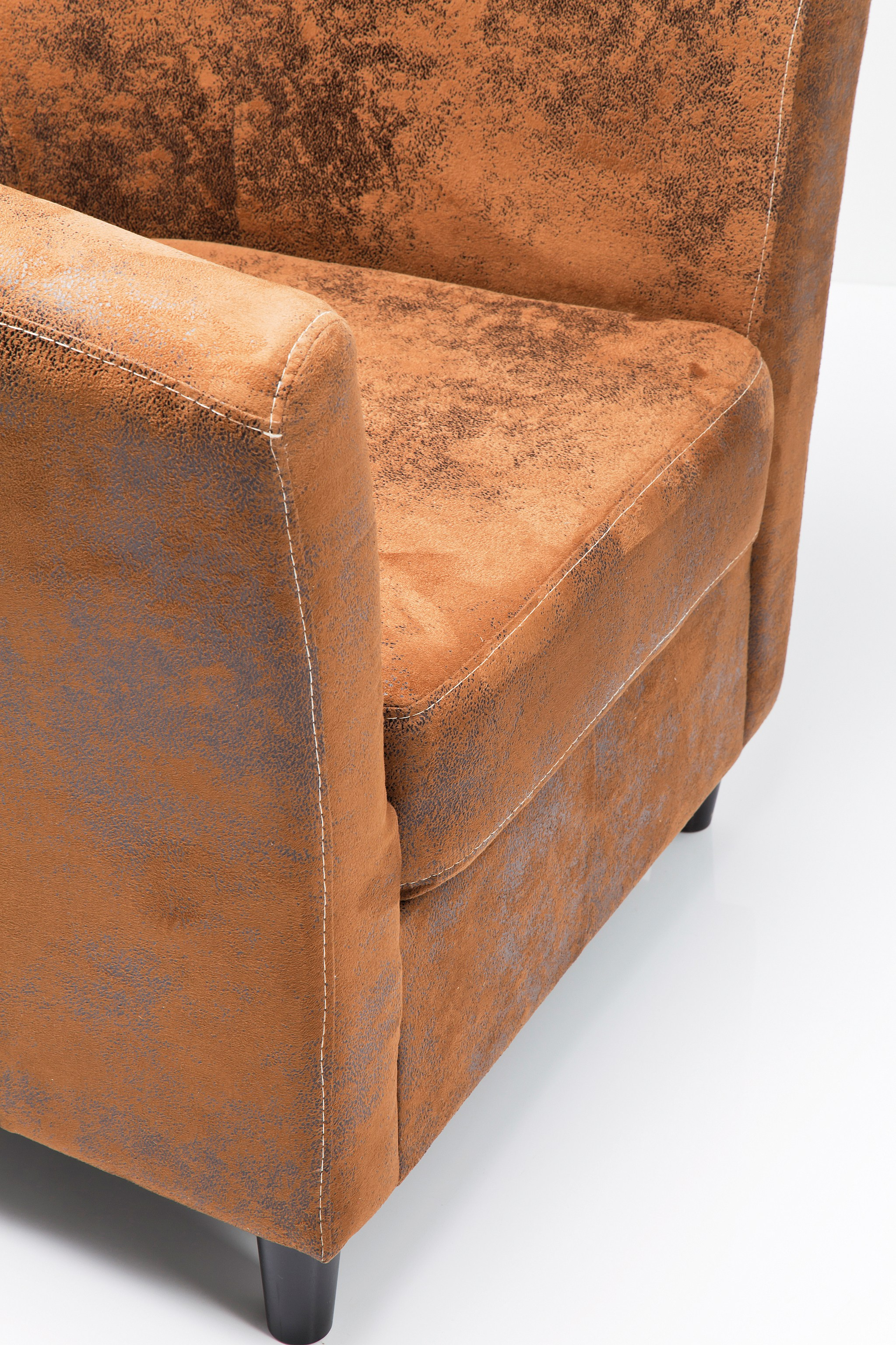 poltrona imbottita in pelle in stile vintage con braccioli africano vintage eco by kare design. Black Bedroom Furniture Sets. Home Design Ideas