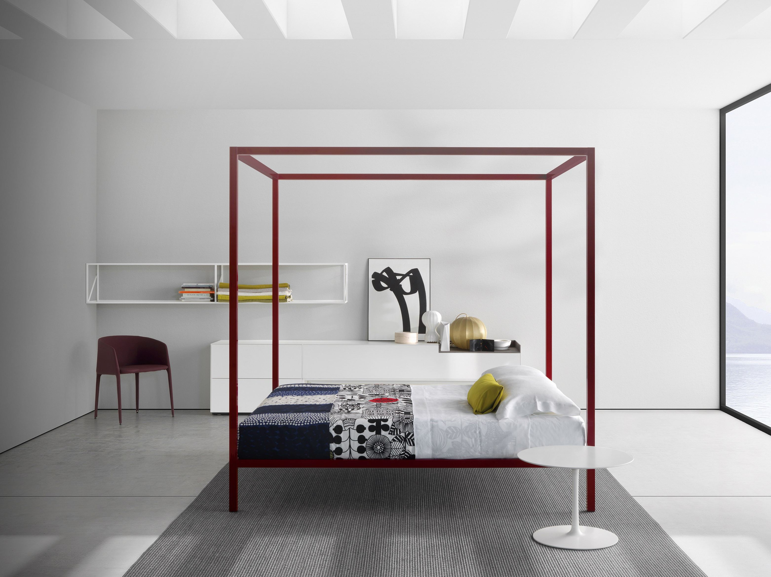 aluminium double bed aluminium bed by mdf italia design. Black Bedroom Furniture Sets. Home Design Ideas