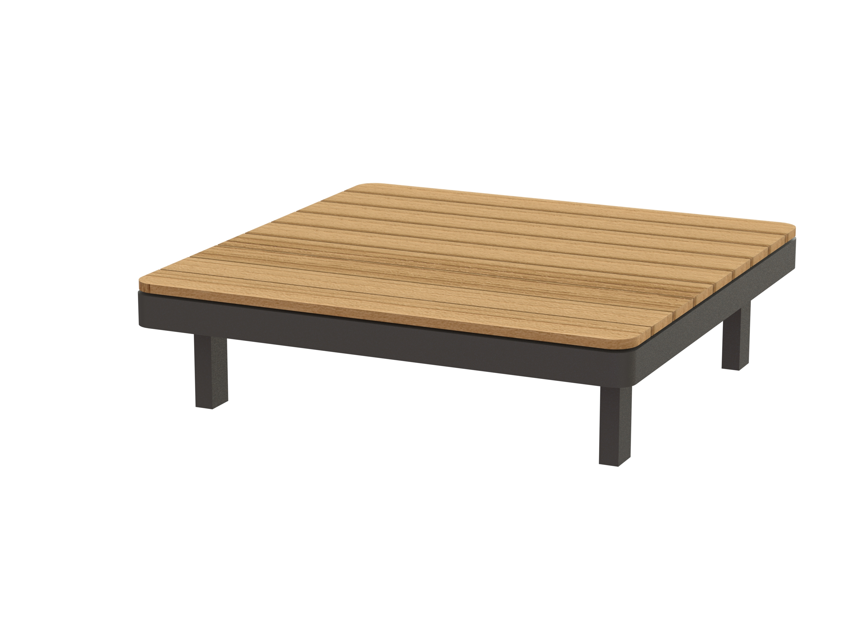Low square teak garden side table alura lounge collection by royal botania design kris van puyvelde Patio coffee tables
