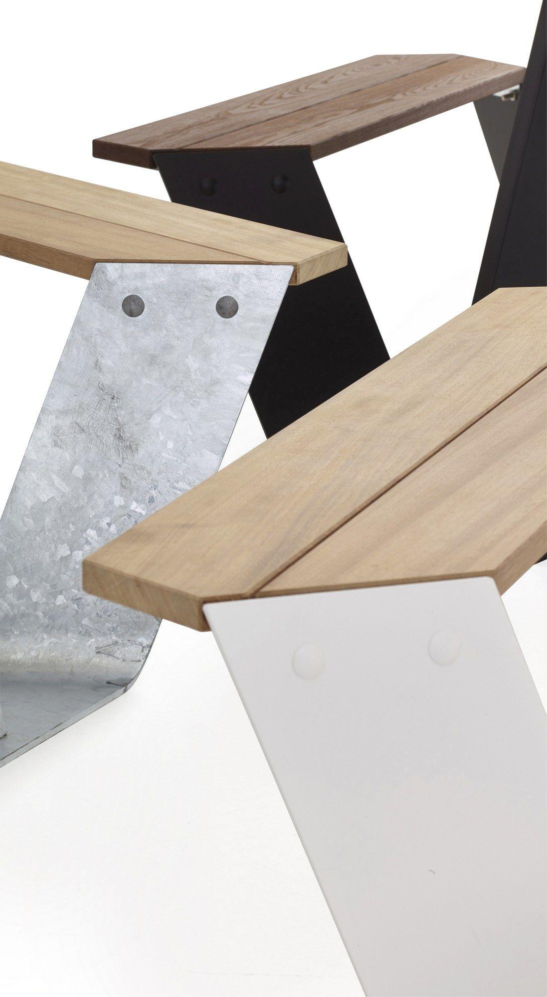 anker table pour pique nique en acier galvanis by extremis. Black Bedroom Furniture Sets. Home Design Ideas